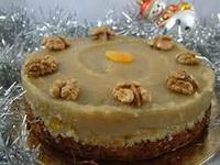 Fűszeres diós-mézes torta