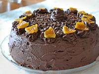 Narancsos truffel torta