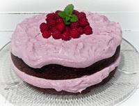 málnakrémes-cukkinis-csokoládétorta
