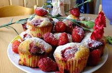 Nyári epres muffin joghuttal