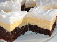 Vaníliakrémes ínycsiklandó csokis piskótán  csábító sütike