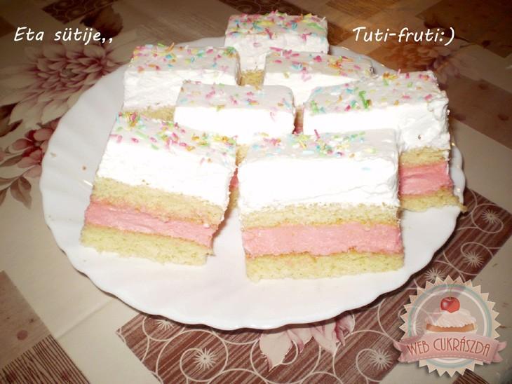 Tutti-frutti szelet