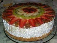 Gyümölcs torta linzer tésztából