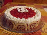 Téli meggyes torta