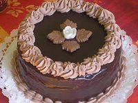 Csokitorta csoki ganache-zsal