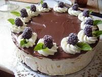 Szedres-tejszínes-csokis torta