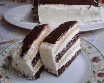 Csokis, kókuszos torta