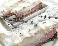 Fehér csokis levendulás krémsajtos szelet