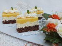 Tehéntúrós- barackos sütemény