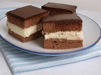 Krémes csokoládé glazúrral