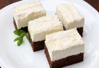 fekete-fehér sütemény