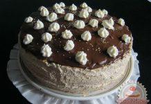 Diós torta csokimázzal