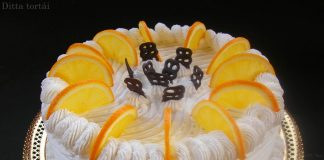 Narancsos oroszkrém torta