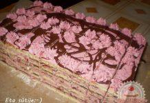 Gyümölcsös-csokis Vienetta szelet Eta módra