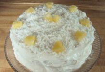 kókuszos-ananászos trópusi torta