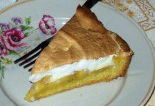 omlós habos banános süti