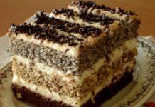 Csíkos krémes sütemény