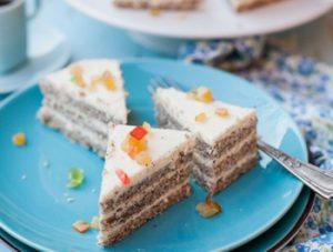 Citromkrémes mákos torta
