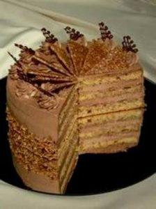 Mogyoró-Nugát torta