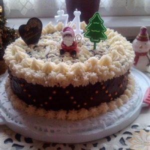 Ünnepi csokikrémes torta
