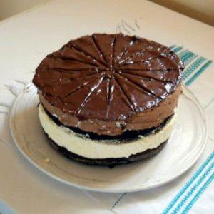 Csokis-Vaníliás Krémes Csokoládétorta