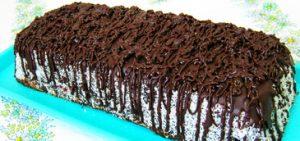 Csokoládés kókuszos keksztorta