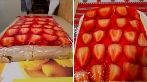 Sütés nélküli epres túrós desszert