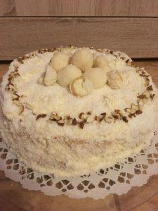 Raffaello torta, édes mandulás, kókuszos csoda!