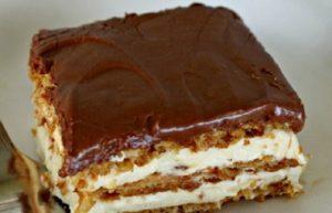 Álom szelet, sütés nélküli krémes