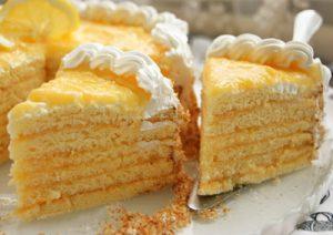 Citromkrémes, kókuszos torta