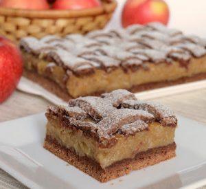 Almás pite kakaós tésztával