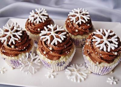 Hópehely muffin