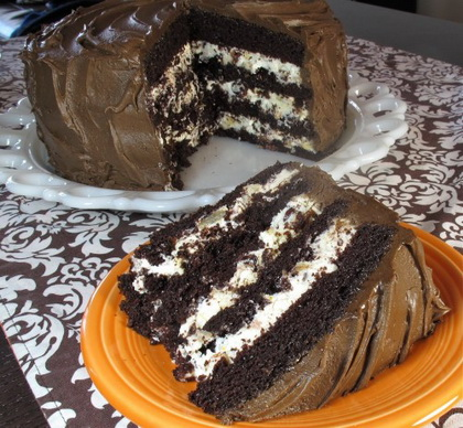 Csokoládékrémes, mascarponés szelet