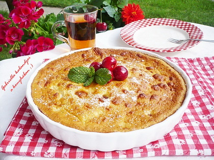 cseresznyés tejes pite