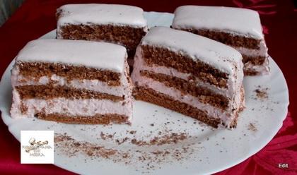 Eperhabos-csokoládés szelet