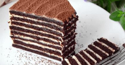 Csokoládés, mézes, tejfölös torta